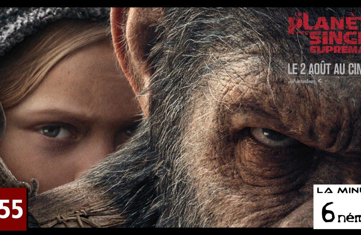 la minute 6nema N°20 – la planète des singes Suprématie sans spoiler