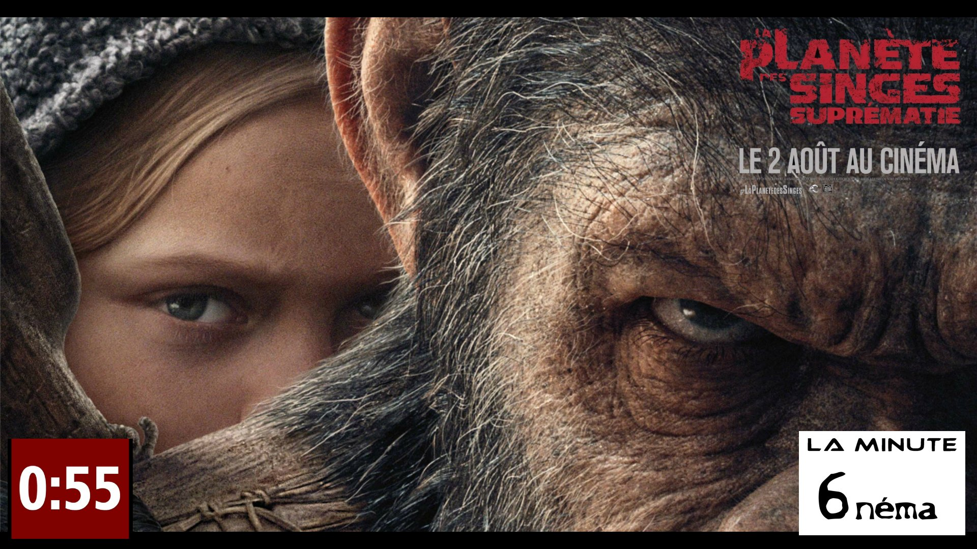 la minute 6nema N°20 - la planète des singes Suprématie sans spoiler